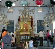 The Jewish synagogue at Cochin is a major tourist attraction